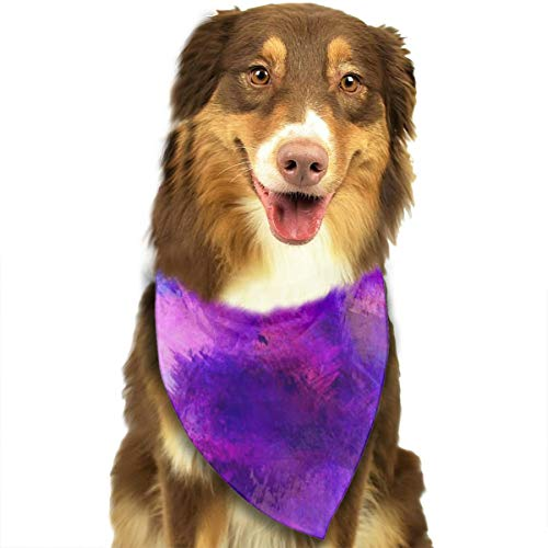 Paint Stains Paarse Behang Hond Kerndoek Halsdoek Set Geschikt voor Kleine tot Grote Hond Katten