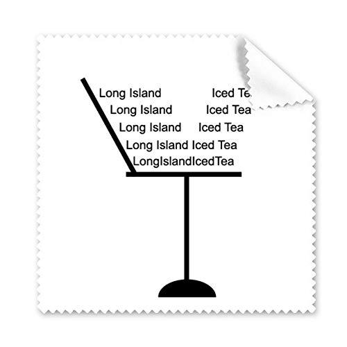 Silhouette Van Long Island Ice Thee Cocktail Glazen Doek Schoonmaken Doek Telefoon Scherm Cleaner 5 stks Gift