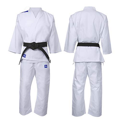 Starpro Karate Tuta Uniforme Kit - per MMA Arti Marziali Karate Gi Taekwondo Professionale Lotta Leggero Kimono WKF | Tessuto Bianca di Cotone per Bam