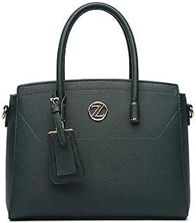 Zeneve London Satchel Bag For Women-218184-Green