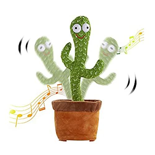 WSXEDC Cactus Shake Plush Plant Toy, Singing Dancing Musical Regalos, Llegado Niños Divertidos Juguetes Educación de la Primera Infancia, para Niños Niños Niñas Decoración Decoración Fiesta Presente