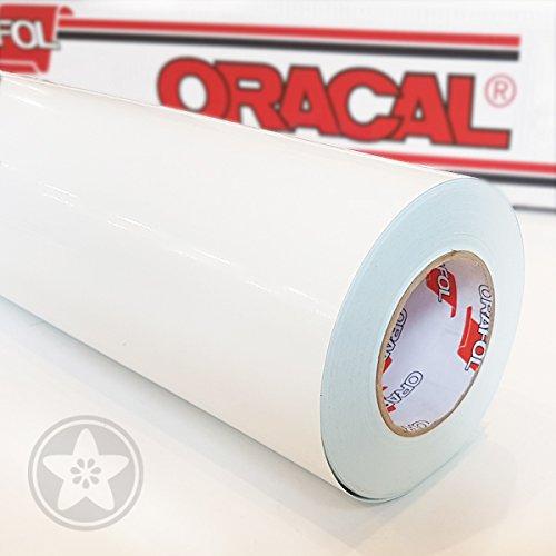 hauptsachebeklebt Oracal 621 Folie 010 Weiß Klebefolie - 5m x 61,5cm - Orafol - Möbelfolie - Plotterfolie- selbstklebend