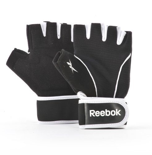 Reebok Fitnesshandschuh Training Gloves Guantes de Entrenamiento para Fitness, Unisex, Negro, L
