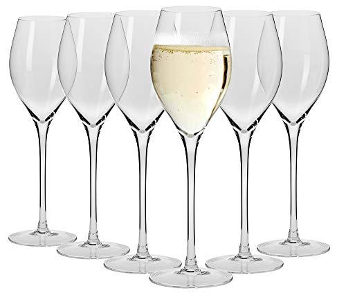 Maxwell Williams Vino Prosecco glazen set, glas, set van 6 kleine wijnglazen in geschenkdoos