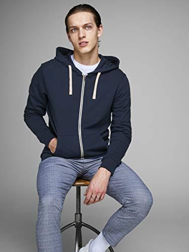 JACK&JONES Man Sweatshirt Hood 12136884 Blue M Blu