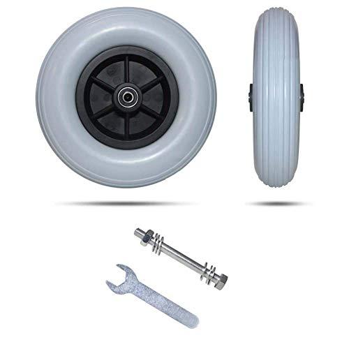 """vadmepiop Ruedas de Repuesto Delanteras para Silla de Ruedas, neumático para Silla de Ruedas con tracción eléctrica de 8"""", Resistente y Duradero"""