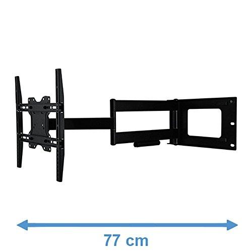 800x400 mm VESA 200x200 .. Consigliato TV-size: 42-80 Completamente portatile // Girevole // Orientabile // Inclinabile DQ Reach XXL 101 cm