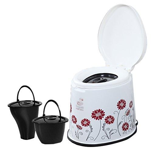 MyAou-commode Toilette Chaise Portable Toilette Antidérapante Toilette Voyage Camping Randonnée Pique-Nique en Plein Air (Couleur : Rouge)