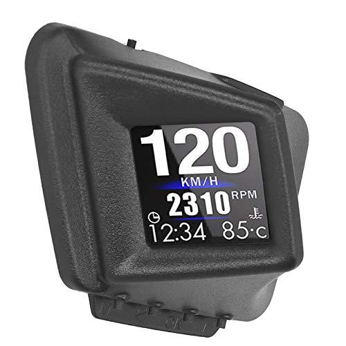 Medidor inteligente giratorio OBD2 + GPS, tasa de actualización de hasta 10Hz, velocidad de visualización, distancia, brújula de navegación GPS, ajuste de brillo, medidor de alarma de velocidad