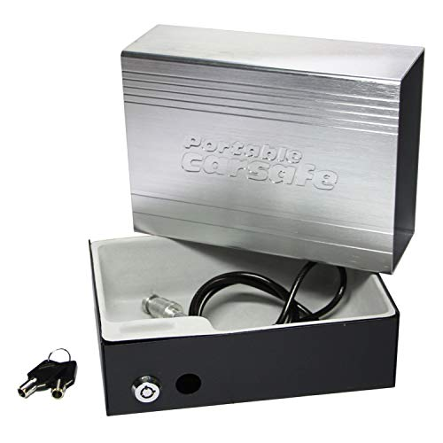 SEPOX Portable Safe Combination Lock Box Safe Space Combination Travel Lock Box with cable Cash Jewelry Storage Box Car Safe