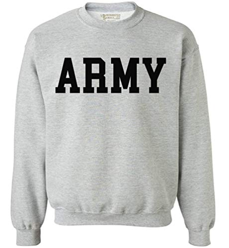 Awkwardstyles Army Sweater Black Military Physical Training Sweatshirt + Sticker Gift M Gray