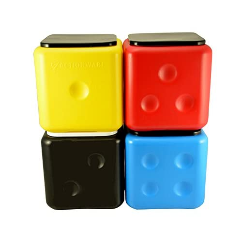 ACTIONWARE Plastic Dice Stool (Colour May Vary, Standard Size)