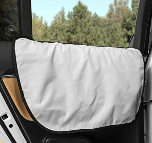 Plush Paws Basic Car Door Covers for Dogs, Fits Most Vehicles (Grey) - USA Based
