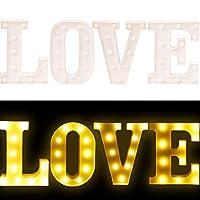 IKENOKOIアルファベット LEDライト 装飾ランプ インテリア 祭り/パーティー/結婚式/誕生日/クリスマスに(LOVE)