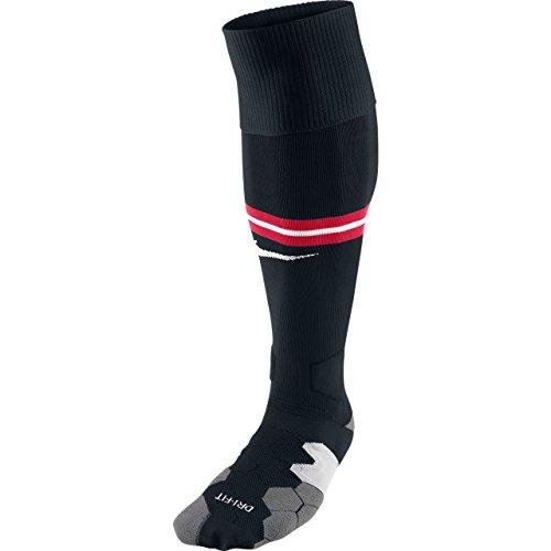 Nike Herren Strümpfe Manchester United Home Away, Black/Diablo Red/Football White, XS