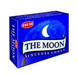 The Moon Case Of 12 Boxes, 10 Cones Each Hem Incense From India incense cones Mar, 2021