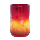 418SC Crackled Small Dimple Glass - Blenko Glass Company