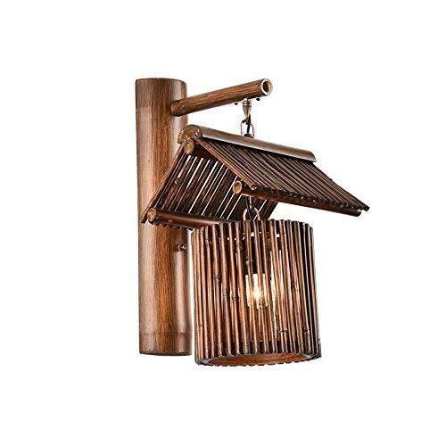 BJLWTQ Pared de la cabecera de la lámpara de pared Luces Minimalista, Salón Dormitorio lámpara de cabecera de bambú Restaurante y Bar en la pared del pasillo del pasillo luces de la pared, Estudio Hot