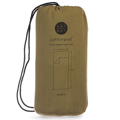 Cottonpod Sleeping Bag Liner & Travel Sheet Meadow, Backpacking Sleeping Bag Liner, Hiking Travel Sheet, Camping Sleeping Bag, Best Travel Sleeping Bag