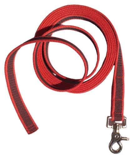 Dogs and More - Gummierte Schleppleine => 3 Meter in Rot (Ohne Handschlaufe)