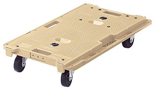 オカムラ 樹脂製平台車 ミニキャリア67 縦横連結可能 ゴムキャスター オーツ 1X271A-GE47