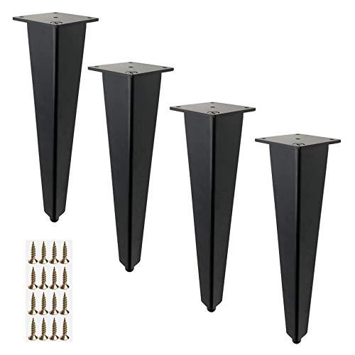 XQWERJ Patas de Muebles de 4 Piezas, Patas de Mesa de Metal con Perfil de Aluminio, pies de Cocina, pies de sofá, pies de Muebles Ajustables en Altura, pies de gabinete