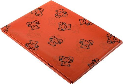 Art and Craft Plastic tafelkleed / spatbescherming, teddymotief, rood