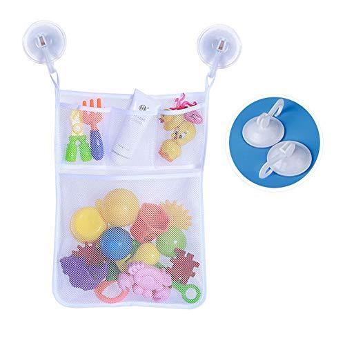 RENNICOCO Organizador de Malla para Juguetes de baño para bebés, de Seguridad y diversión, White-02, 45 * 52CM