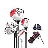 Juego de palos de golf para niños de 3 a 12 años (negro, 3 a 5 años (95 a 115 cm de altura)