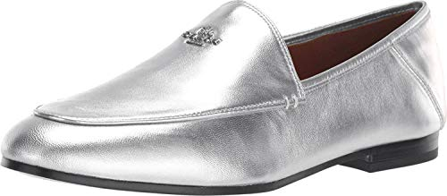 COACH Hallie Metallic Loafer Silver 8.5