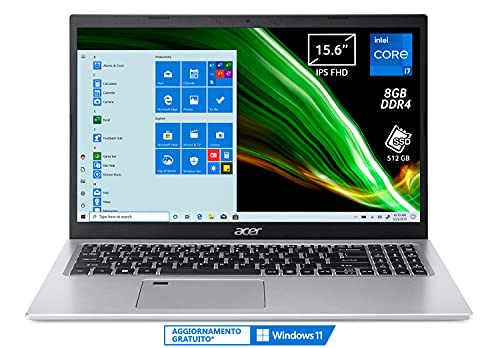 portatile 8gb ram ssd Acer Aspire 5 A515-56-72J0 PC Portatile