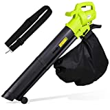 Upgraded Leaf Blower Vacuum, 3000W 3 in 1 Electric Garden Blower/Vacuum Shredder