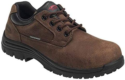 Avenger Work Boots Men's 7118 Foreman Composite Toe Waterproof EH Oxford Work Shoe Industrial-and-Construction, Brown, 10.5