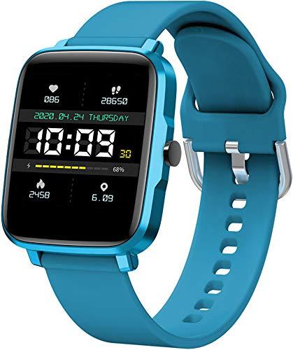 Fitnessuhr Damen Elegant 1.54 Zoll Voll Touchscreen Farbdisplay Smartwatch IP68/ 5ATM Wasserdicht Sportuhr mit Pulsuhr Schrittzähler Musiksteuerung Stoppuhr