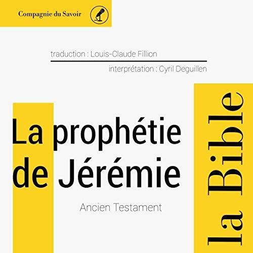 Couverture de La prophétie de Jérémie