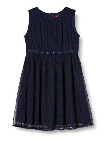 s.Oliver Mädchen 58.911.82.3002 Kleid, Blau (Dark Blue 5952), 122 (Herstellergröße:122/REG)