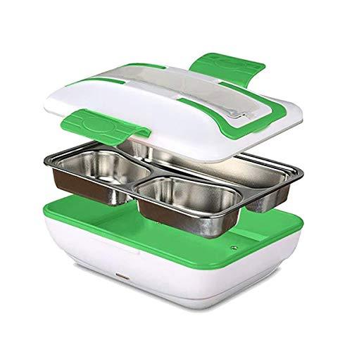 Zeerkeer Fiambrera Eléctrica Bento,Comida Térmico Lunch Box, Calentador de Comida Electrico con Bandeja Extraíble de Acero Inoxidable para Oficina