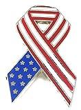 20 Bulk Deluxe Metal and Enamel American Flag Ribbon Lapel Pin - Patriotic 4th of July Handouts