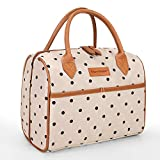 Tirrinia Insulated Lunch Tote Bag for Women w/Leather Handle, Fashionable Lunch Box for Men & Kids,...