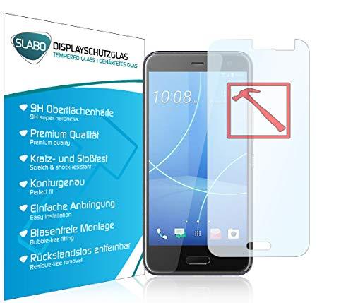 Slabo 3 x Premium Panzerglasfolie für HTC U11 Life Panzerfolie Schutzfolie Echtglas Folie Tempered Glass KLAR 9H Hartglas