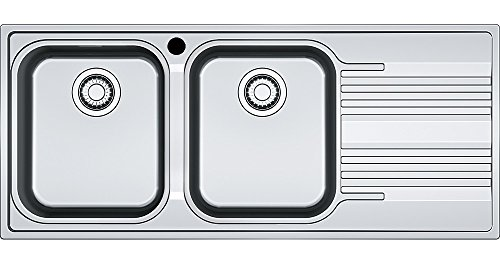 Franke Smart SRX 621 - Fregadero (Fregadero empotrado, Rectangular, Acero inoxidable, Acero inoxidable, 2 senos, Rectangular)