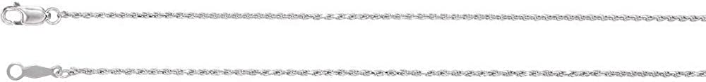 1mm Diamond-Cut Rope Chain Necklace Secure Lobster Clasp Closure