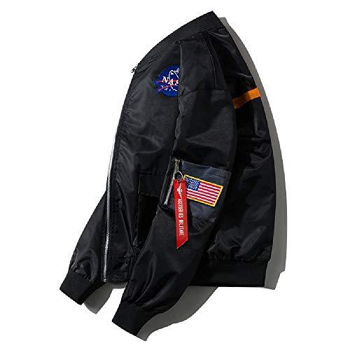 SKJJ Herren Jacke mit vertikalem Kragen Gr. X-Large, Schwarz