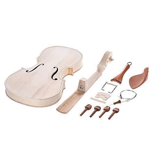 YUXIwang Violine DIY 4/4 Volle Größe Natürliches Massivholz Akustische Violine Geige Kit mit EQ Fichte Top Ahorn Back Hals Griffbrett Aluminium Instrumente ( Color : As pic5 )
