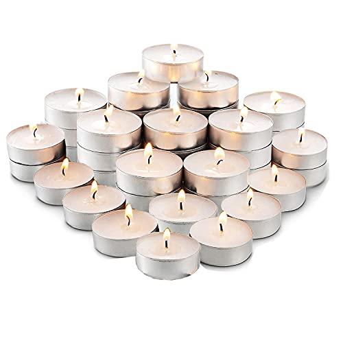 Adkwse 50er Teelichter, Herzform Romantische Kerzen Rauchfreie Herzkerzen für Geburtstag, Vorschlag, Hochzeit, Party, Rot, Hochzeit Verlobung, Valentinstag (Weiß)