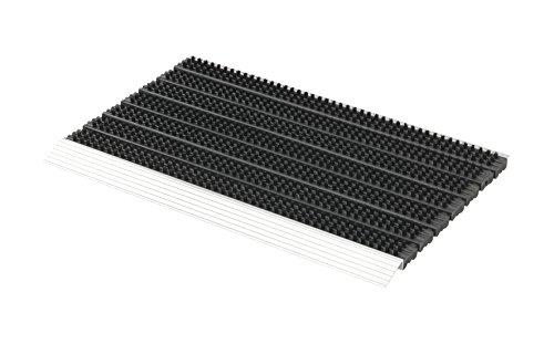 ASTRA Fußabstreifer Super Brush – Fußmatten für den Außenbereich – extrem strapazierfähige Matte – wetterfester Türvorleger – 45x75cm, schwarz