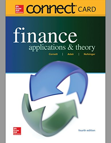 Download Finance Applications & Theory Connect Access Card 1260049434