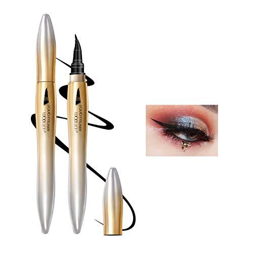 OKENTEN Eyeliner liquide de haute précision, eye-liner noir résistant aux taches de pointe inclinée, crayon de maquillage pour les yeux de formule Vegan imperméable de longue durée