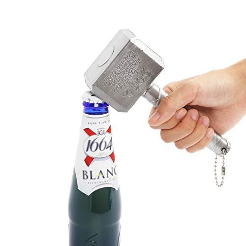 BAYINBROOK Thor Hammer Flaschenöffner Bieröffner Bierflaschenöffner Hammer Thor Shaped Flaschenöffner Perfekt für Bar und Hausgebrauch Geschenk für Wunderliebhaber und Bierliebhaber (1)