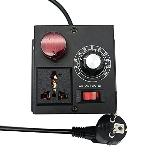 L.J.JZDY Motor Regulador de Voltaje Variable eléctrico Temperatura Ventilador de Ventilador Controlador de Velocidad Dimmer Termostato